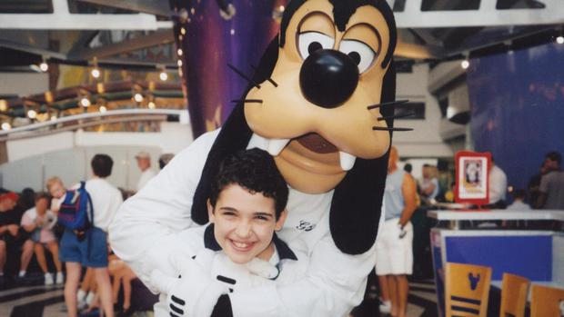 Trip of a lifetime: Owen Suskind, subject of the documentary Life, Animated, during a childhood trip to Disney World (courtesy of Ron Suskind)