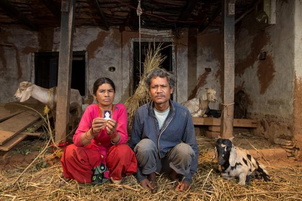 Ram Raja Kumal and his wife Sabitri, parents of Sushila, who vanished last June, at their home in Pipaltar, Nepal. Photo: Mark Condren