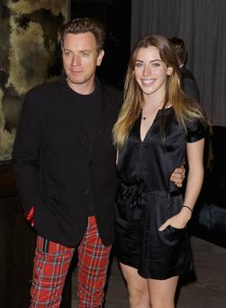 Supportive: Clara McGregor with dad Ewan.