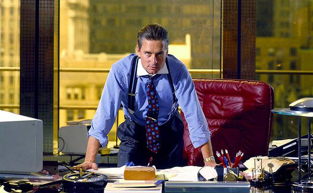 Greed is good: Gordon Gekko played by Michael Douglas in 'Wall Street', was eventually jailed for illicit trading, despite having his own plane, money to burn and notoriety.