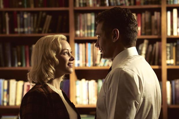 Goodnight sweetheart: Sarah Hadon and James Franco star in time-travelling caper '11.22.63' on Fox, based on the Stephen King novel of the same name.
