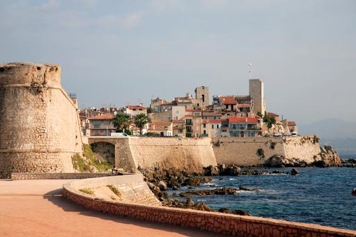 The old walled town of Antibes, which has been settled for at least 2,000 years