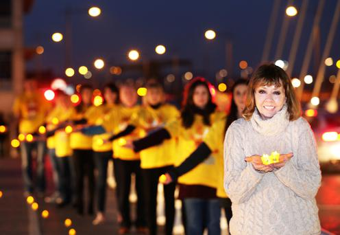 Joan Freeman, founder of Pieta House, at a Darkness Into Light event.