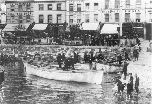 Tragedy: Lifeboats from the Lusitania in Cobh