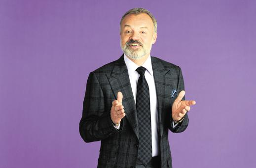 Dab hand: Graham Norton will host the Baftas for the tenth year.