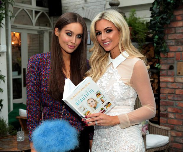 Models Rosanna Davison and Roz Purcell have both produced cookbooks. Photo: Brian McEvoy.