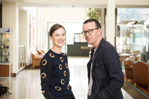 Enda Walsh with his wife, 'Financial Times' Fashion Editor Jo Ellison. Walsh is a man who is not afraid to ruffle feathers. Photo: Andrew Downes, xposure
