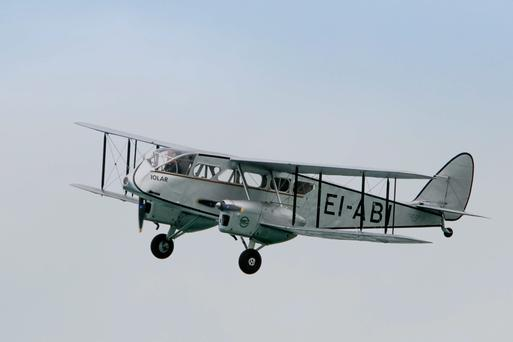 First flight: A six-seater De Havilland 84 Dragon, repainted in the livery of Aer Lingus' original aircraft, Iolar.