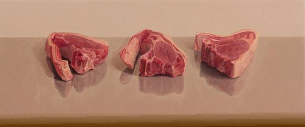 Three Lamb Chops by Comhghall Casey.