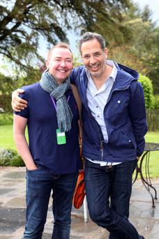 Yotam Ottolenghi (right) with husband Karl Allen at the Kerrygold Ballymaloe Literary Festival of Food and Wine in Shangarry.
