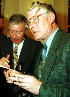 Pals: Bart Cronin, right, and Sean Duignan