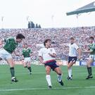 Ray Houghton is hailed a national hero after scoring against England in the European Championships 1988