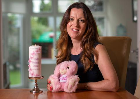 Memories: Michelle Dunne lost her baby girl Fiadh when she was 21 weeks pregnant Photo: Fergal Phillips