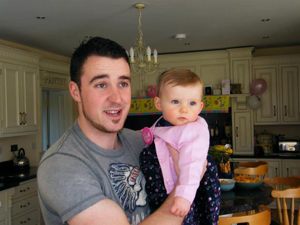 Writer John Brennan and his goddaughter Cliodhna