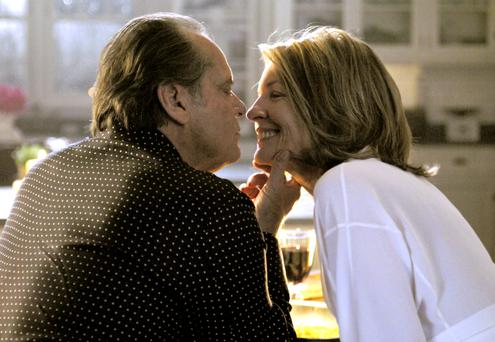 Age is just a number: Diane Keaton, seen here with her 'Something's Gotta Give' co-star Jack Nicholson, has said she's sexually frustrated in her 70s.