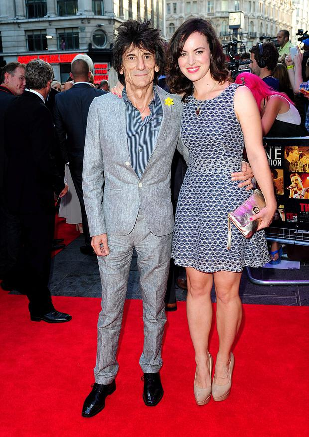 Papa was a Rolling Stone: Ronnie Wood has become a dad again at the age of 69, with wife Sally (38).
