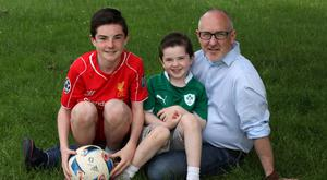 Parenting blogger: Darren Brooks with his sons Dylan and Liam.