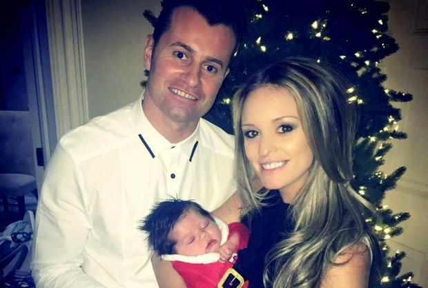 Shay Given and fiancee Becky Gibson with baby Gracie