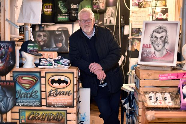 Air-brush artist Mike Jones voted Leave 'just for a change'.