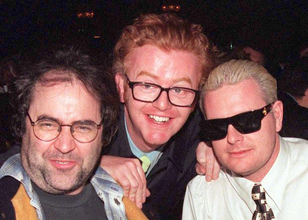 Chris Evans with old friends Danny Baker and Paul Gascoigne in 1999.