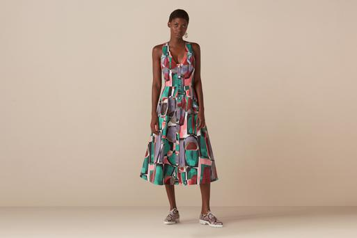 Bartley button through dress, €89.57; finerylondon.com