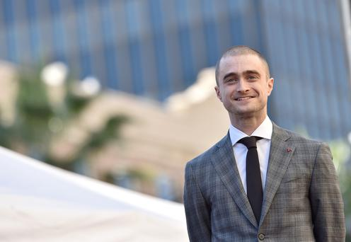 Daniel Radcliffe at a ceremony in California to honour him with a star on the Hollywood Walk of Fame a few months ago.