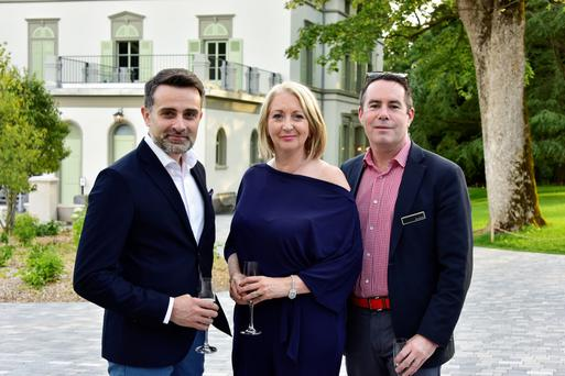 Bairbre Power with Spiros Fotinos, head of brand communications with Lexus Europe, and Graeme Slattery, MD of PSG in Dublin