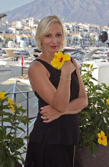Cool Tatiana, pictured enjoying life here in Marbella, is feeling the heat of the sun