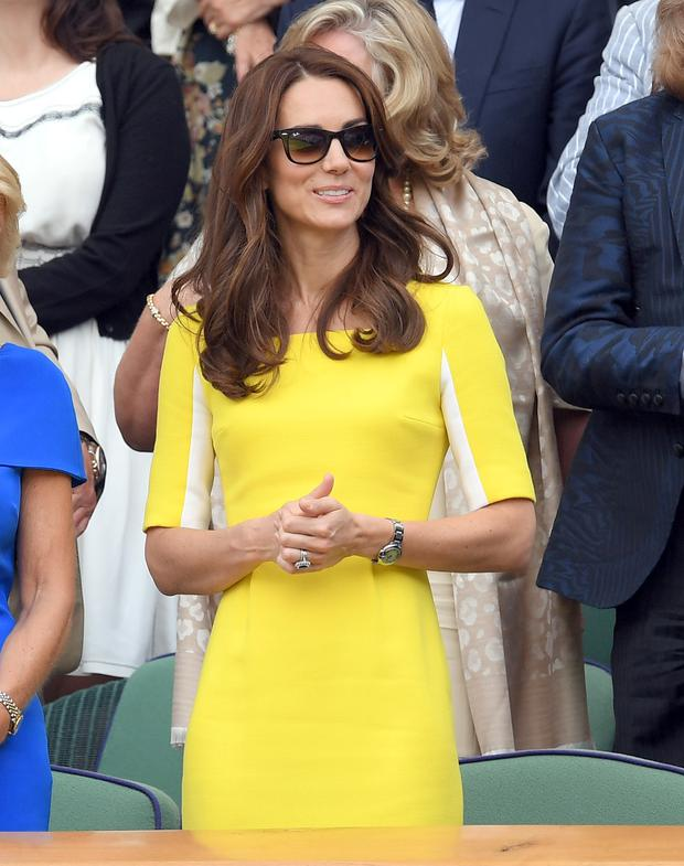 Kate Middleton in Roksanda at Wimbledon.