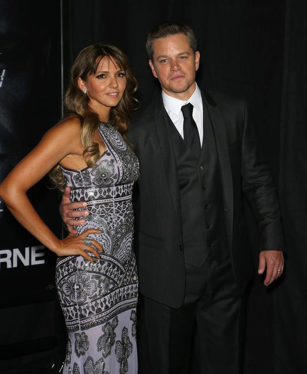 Matt Damon with wife Luciana