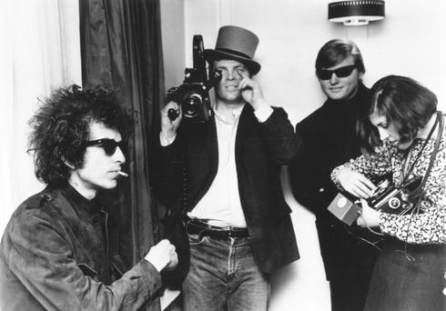 Bob Dylan is filmed by DA Pennebaker for Dont Look Back (1965)