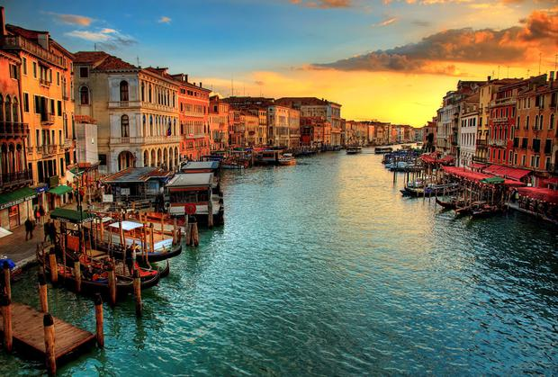 The beautiful surrounds of Venice make it a perfect spot for a honeymoon or city break