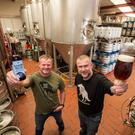 Tapping into trend: Quincey Fleming and Simon Lynch, who co-founded the Wicklow Wolf Brewing Company