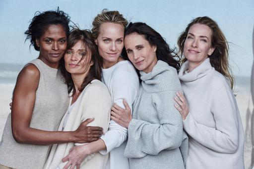 From left: Karen Alexander, 50, Helena Christensen, 47, Amber Valletta, 42, Andie MacDowell, 58, and Tatjana Patitz, 50, star in the new L'Oréal campaign Photo: Peter Lindbergh for L'Oréal Paris