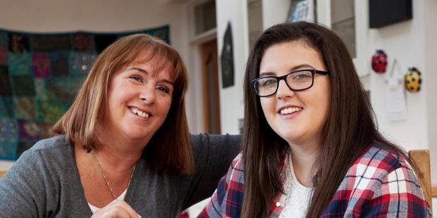 Barbara Scully with her 17-year-old daughter Roisin, who has started working to save for driving lessons