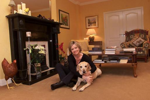 Bond: Cathy Kelly and her late dog Tamsin