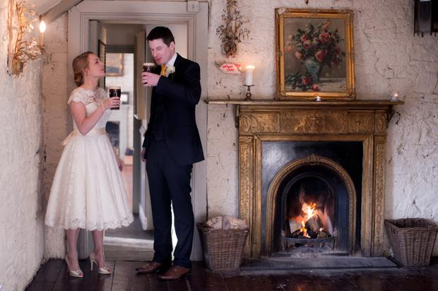 Amy and Declan on their wedding day. Photography by Christopher at Dolinny Photography, visit dolinnyphotography.ie