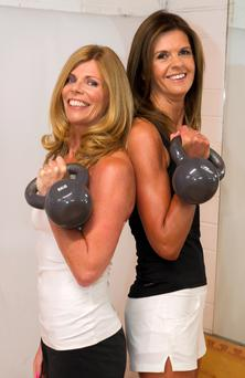Work it out: Business partners and friends Teri Dillon and Suzanne Flanagan in their Pilates studio in Dunboyne
