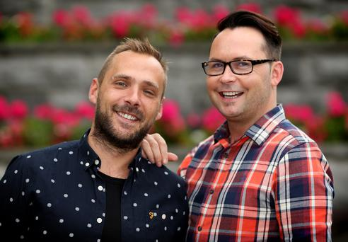 Alex Thomas and Colum McCormack Crowe say they are opposites in personality. Photo: Gerry Mooney