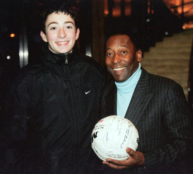 Sean Keane with the legendary Pele