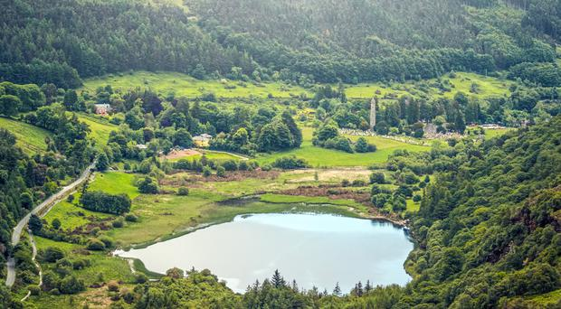 The Lower Lake at Glendalough, one of the most peaceful and becalming places of natural beauty in Ireland