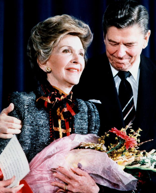 Nancy Reagan with her husband, the late president Ronald Reagan.