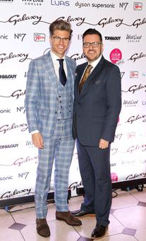 Darren Kennedy the face of the Dublin Festival of Fashion with Clyde Carroll, director of marketing for DublinTown