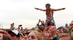 Block rockin' beats: festival-goers enjoy the main stage at last year's Electric Picnic which will this year feature Lana Del Rey and The Chemical Brothers