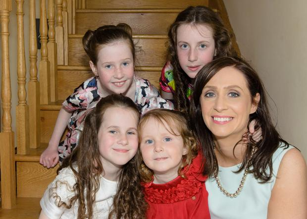 Helen Nolan from Carndonagh with her four children