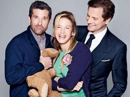 Renée Zellweger and Colin Firth are joined by Patrick Dempsey in 'Bridget Jones's Baby'