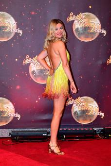 Laura Whitmore takes part in 'Strictly Come Dancing'