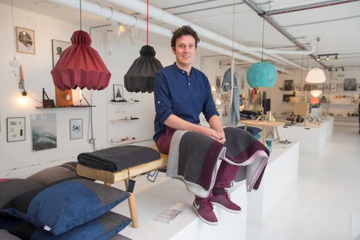 Living the hygge life: Louise Wehye Funder, in his interior design shop Nordic Makers in Dublin. Photo: Mark Condren