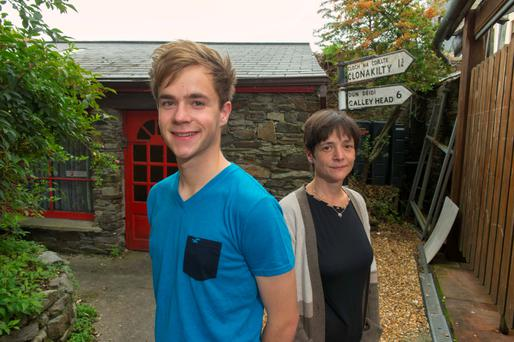 Rite of passage: Martin Connolly, 19, is preparing to leave for college in Dublin and leave his mum, Karin, at home in Cloankilty Photo: Michael Mac Sweeney