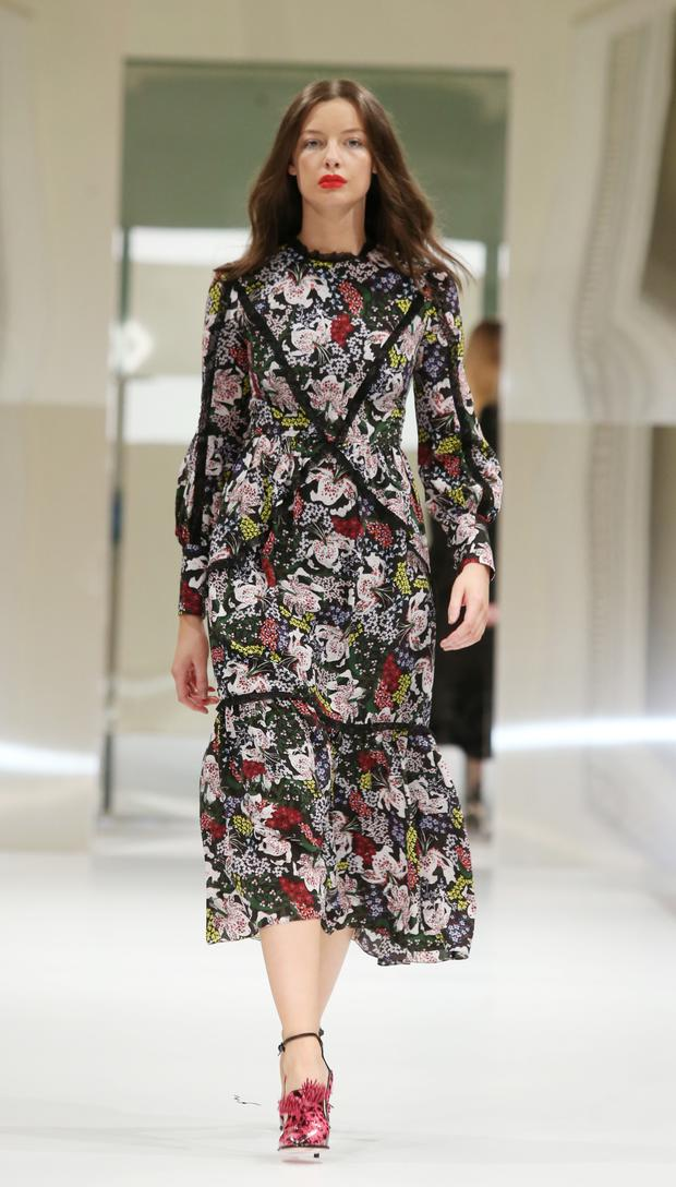 Floral midi dress with lace trim, €1,665, Erdem, available at Brown Thomas